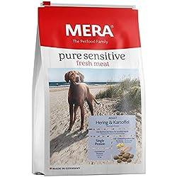 MERADOG PURE Adult Trockenfutter I Hundefutter ohne gluten- und getreidehaltige Zutaten für sensible Hunde mit Hering, Krill und Kartoffeln I 12,5 Kg