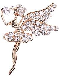 La Vogue Broches Et Pin's Vêtement Accessoire Bijou Femme Cristal Artificiel