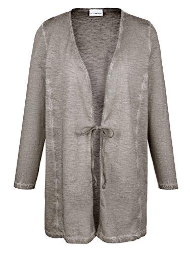 Damen Twinset aus reiner Baumwolle by MIAMODA Grau