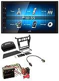 caraudio24 JVC KW-M24BT 2DIN Bluetooth MP3 Aux USB Autoradio für BMW 5er (E60 2003-2007)