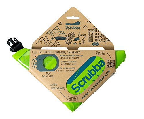 51qjx20mxNL - Scrubba Washing Bag Kit 2.0 Portable Clothes Washer System for Hotel and Travel Washing Light and Small Eco-friendly…