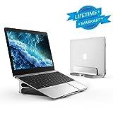 Seenda Verstellbarer Mehrfunktionaler Laptopständer, vertikaler und höhenverstellbarer Ständer kompatibel mit allen MacBook, MacBook Air, MacBook Pro usw., Silber