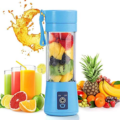 51qjxA2Ad4L. SS500  - Mini Portable Blender,Personal Blender Small Fruit Mixer Electric USB Rechargeable Juicer Cup Fruit Mixing Machine Home Travel 380ml,Six Blades 3D