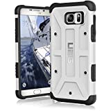 Urban Armor Gear UAG-GLXN5-WHT-W/SCRN-VP - Funda para Samsung Galaxy Note 5, color blanco y negro