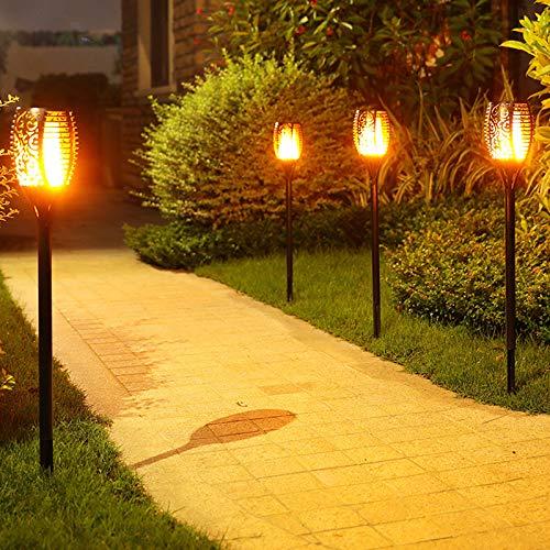 Solar Flame Flickering Garden LED-Licht IP65 im Freien Solar-Tiki-Taschenlampe Strahler Landschaft Dekoration LED-Lampe
