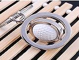 LL-Golf drehbarer Golfball Schlüsselanhänger in 3D Optik/Golf Geschenk/Golfgeschenk