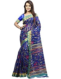 Yuvanika Women's Cotton Silk Saree (Syuvef000193,Multicolor,Free Size)