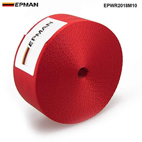 Craven 10M Racing Sicherheitsgurt 4.8CM * 10M Auto Gurtband Sicherheitsgurt Gurtband Zubehör, rot
