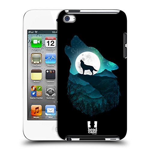Head Case Designs Wolf Tiere Doppelbelichtung Harte Rueckseiten Huelle kompatibel mit Apple iPod Touch 4G 4th Gen (Ipod 8gb 4. Gen)