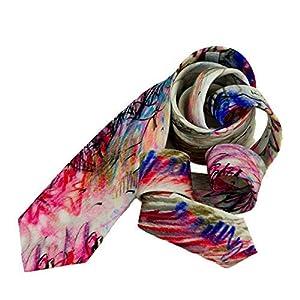 Dali Design Krawatte, abstrakte Aquarelle Mens Krawatten, coole Krawatten, Dali Print, Geschenk für ihn, lila Krawatte