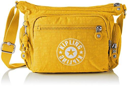 Kipling - Gabbie S, Bolsos bandolera Mujer, Amarillo (Lively Yellow), 16.5x29x22 cm (B x H T)