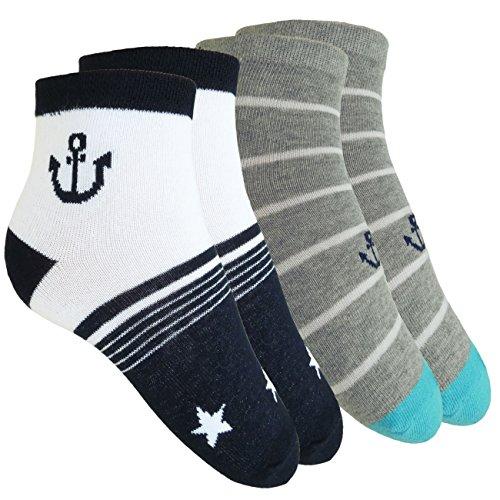 Esda Jungen Socken 2-er Pack Kindersocken Anker/Sterne 1252 Marine/Grau Gr. 31/34 75{b236220f689bcd7f1f86ee4ddcc4a55e903cbb6080a9dcd21eebb7af54d2ca63} Baumwolle