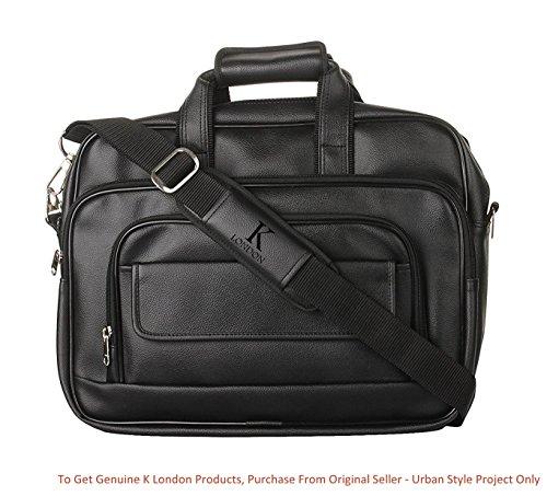 871462ba525 K London Black Artificial Leather Handmade Men Laptop Bag Cross Over  Shoulder Messenger Bag Office Bag ...