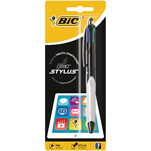 stylus tablet BIRO BIC STYLUS 2 IN 1-4 COLORI + STYLUS FOR TABLETS/SMARTPHONES