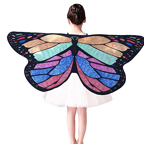 Xmiral Kinder DIY Schmetterling Cape Wings Kreative Angel Wings Dress up Costume Sie können sich selbst bemalen(Grün)