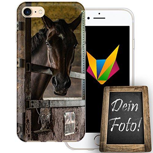 d Handyhülle Personalisiertes Geschenk dünne Silikon TPU Case Foto Motiv für Apple iPhone 7 Ohne Text (Personalisierte Geschenke Western)