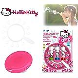 Set infantil juguetes (frisbee + multi trompeta de pompas) con varios motivos - Hello Kitty