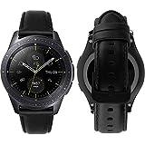 MroTech Compatible avec Garmin Vivoactive 3 Bracelet Cuir véritable 20mm Bracelet de Remplacement pour Samsung Galaxy Watch 42mm/ Gear S2 Classic/Galaxy Active 40mm, Huawei Watch 2 20 mm Bande Noir