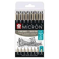 SAKURA PIGMA Micron Fineliner Pens Pack of 8 Black