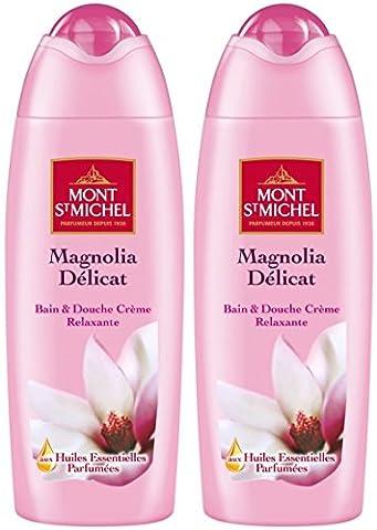 Mont Saint Michel Bain Douche Magnolia Délicat Flacon 500 ml - Lot de 2