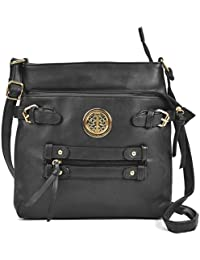 Sally Young Womens Quality Faux Leather Large Zipped pockets Cross Body  Handbag 9a2406a24bcd6