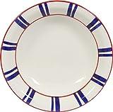 Novastyl 8013060.0 Basque Assiette Creuse Faïence Bleu 21,2 x 21,2 x 4,7 cm Lot de 6...