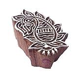 Retro Original Blumen Entwürf Holz Stempel für Drucken