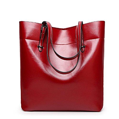 Eysee, Poschette giorno donna Nero marrone 30cm*35cm*12.5cm Vino rosso