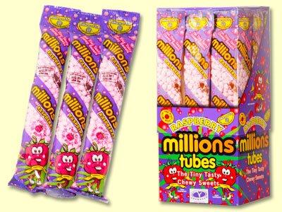 Millions Kaubonbons Raspberry Flavour 12x60g Tubes -