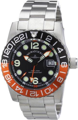 Zeno Watch Basel Herren-Armbanduhr XL Quarz Analog Edelstahl 6349Q-GMT-a1-5M (Gmt Auto)