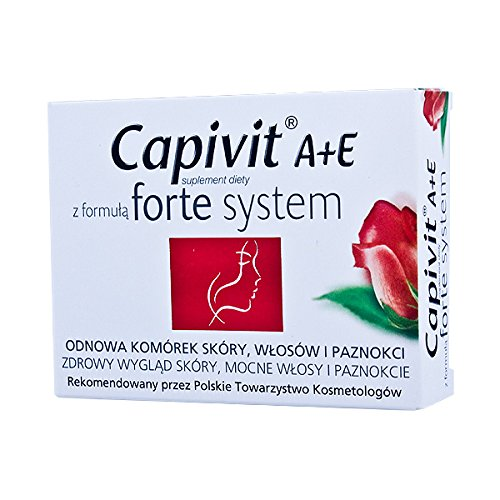 CAPIVIT A+E forte system - 30 capsules - supports and stimulates the natural process of skin regeneration - renewal of skin cells, hair and nails. by Glaxo Smith Klein - Skin Renewal-system