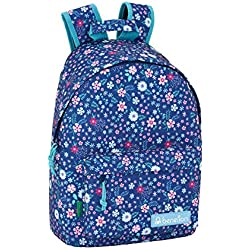 "Benetton UCB In Bloom Blue Oficial Mochila Juvenil Para Portátil 14,1"", 310x160x410mm"