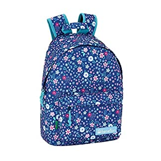 Benetton UCB In Bloom Blue Oficial Mochila Juvenil Para Portátil 14,1″, 310x160x410mm