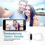 【Neue Version】 Fitness Tracker,Mpow Bluetooth 4,0 Fitness Armbänder mit Pulsmesser,Smart Fitness Tracker mit Herzfrequenzmesser, Schrittzähler, Schlaf-Monitor, Aktivitätstracker, Remote Shoot, Anrufen / SMS, finden Telefon für Android iOS Smartphone wie iPhone 7/7 Plus/6S/6/6 Plus, Huawei P9. - 6