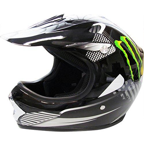 *Venta de Navidad* Leopard LEO-X18 Casco de Motocross Para Niños Bicicleta Motocicleta ATV Patio ECE 22-05 Aprobado Monstruo L (53-54cm)