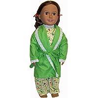 Doll Clothes Superstore Albornoz verde y pijamas de muñeca