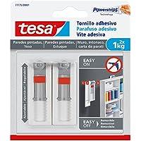 TESA 77775-00001-00 Tornillo Adhesivo Ajustable para Paredes pintadas y Yeso 1 kg, Set de 2 Piezas
