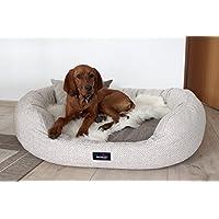 [Gesponsert]tierlando® LUXUS orthopädisches Hundesofa BALOU Hundebett Visco PLUS Matratze | Handwebcharakter | Premium-Lounge! Gr. XL+ 125cm Beige Töne