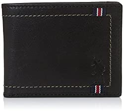 US Polo Association Black Mens Wallet (USAW0556)