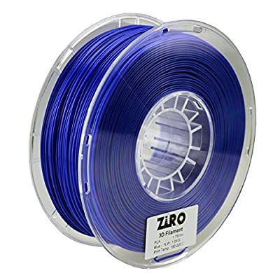 ZIRO 3D Printer Filament PLA 1.75 1KG(2.2lbs), Dimensional Accuracy +/- 0.05mm, Blue