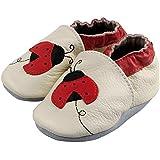 Chaussures chaussons en cuir souple bebe enfant de 0 a 24 mois Unisexe