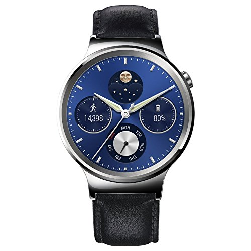 Huawei 55020640Watch Classic Stainless Steel con Cinturino in Pelle Nero