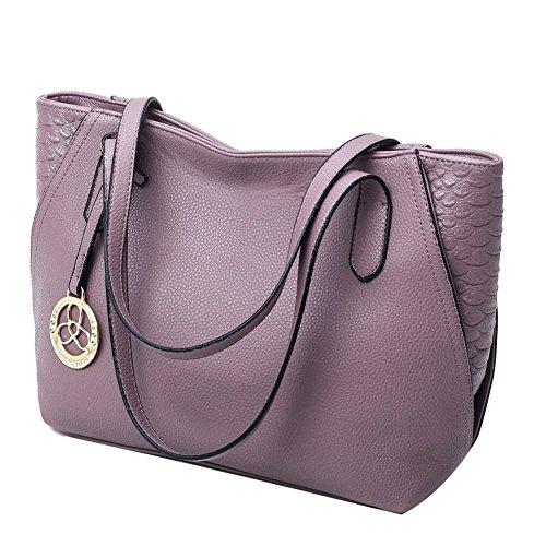A&N - Borse a spalla Donna Purple