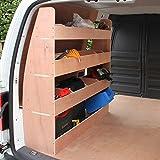 Monster Racking VW Caddy Fahrzeugeinrichtung Fahrzeugausbau Lieferwagen Regal Werkstattwagen Transporter Regal Regalsysteme 122 cm H x 122,5cm B x 30 cm T