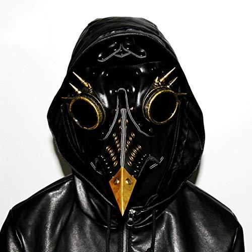 YEGEYA Halloween Maske Vogel Lange Nase PU Leder Cosplay Kostüm Party Requisiten ( Color : Black , Size : 33x15x21cm - Cosplay Kostüm Astrid