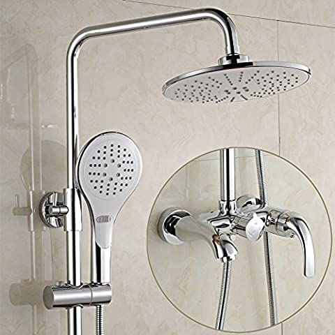 MDRW-Shower, Jacuzzi, bubble great triple shower set high standard copper shower faucet hot and cold water shower