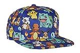 Bioworld - Gorra multicolor de Pikachu - Ajustable azul