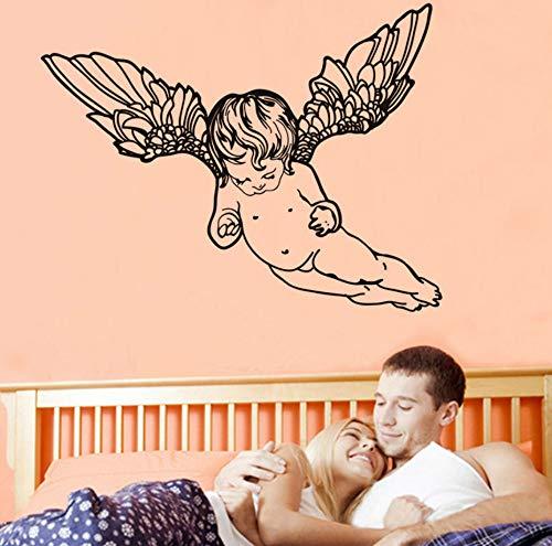 Qliyt Baby Zimmer Nette Naked Flying Cherub Wandaufkleber Für Kinder Schlafzimmer Kopfteil Dekoration Vinyl Engel Wandtattoo Wohnkultur, 44 Cm X 33 Cm -