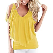 Blusa mujer, ❤ Amlaiworld Blusas de gasa irregular de verano de Mujer Camiseta de