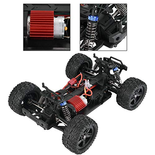 Simlug RC Cars Electric Buggy Crawler Car RC Toy Vehículo, 4WD 2.4G 1/16 Off Road Remote Control Truck(Rojo)